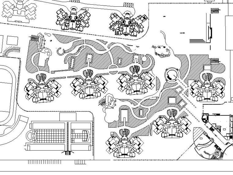 [北京]某居住区星园全套景观设计施工图.全套施工图(包含+180个CAD)