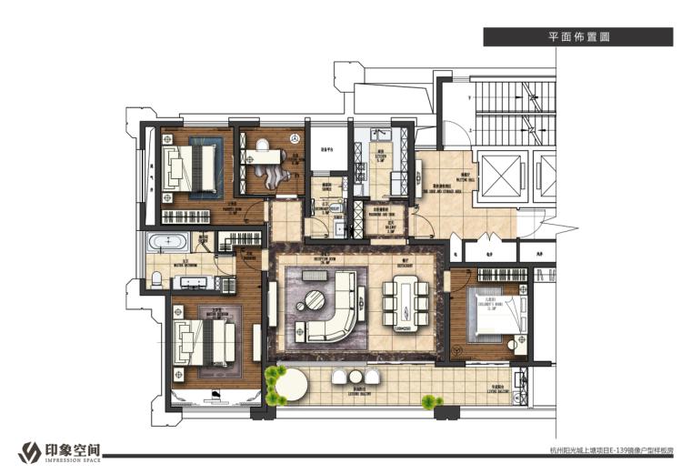 来自浪漫与精致的邂逅—杭州阳光城文澜府139㎡住宅设计效果图