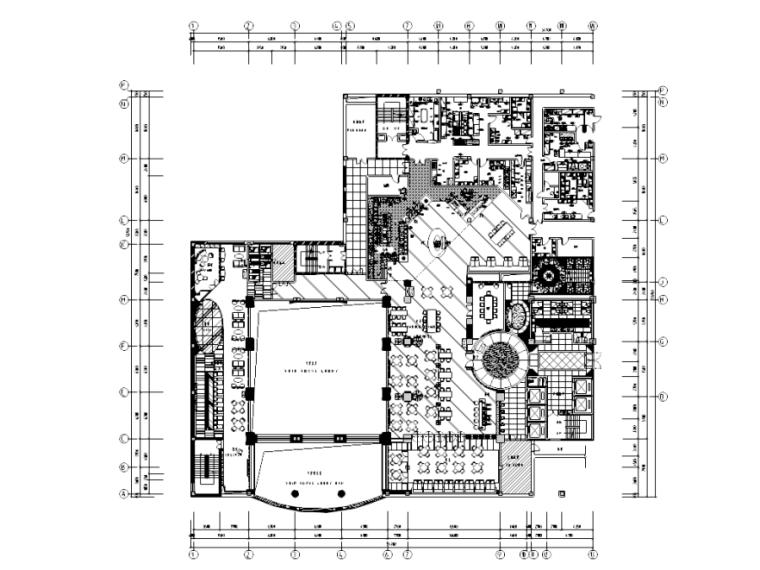 [黑龙江]哈尔滨二层亚洲熟食餐厅施工图