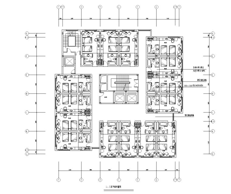 [广东]某酒店套房改造施工图
