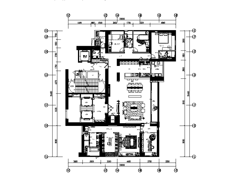 [广东]现代设计样板房全套CAD装修图(含实景图)