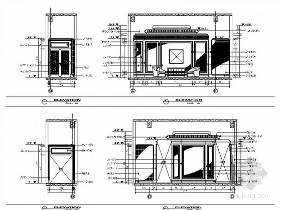 [苏州]奢华欧式风格商务会所七层客房区室内装修图(含效果)卧室立面