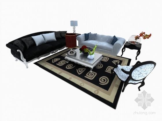 欧式精品沙发3D模型下载