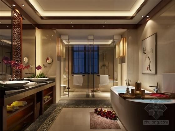[原创]上市设计公司设计新中式联排别墅室内施工图(含意向图)-[原创]上市设计公司设计新中式联排别墅室内意向图