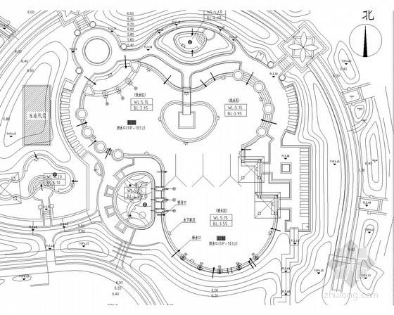 游泳池循环水处理工艺及设备房布置图(水电)