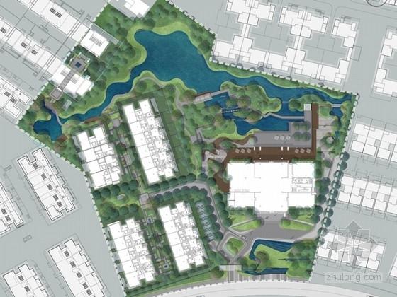 [上海]新中式商业会所示范区景观设计方案