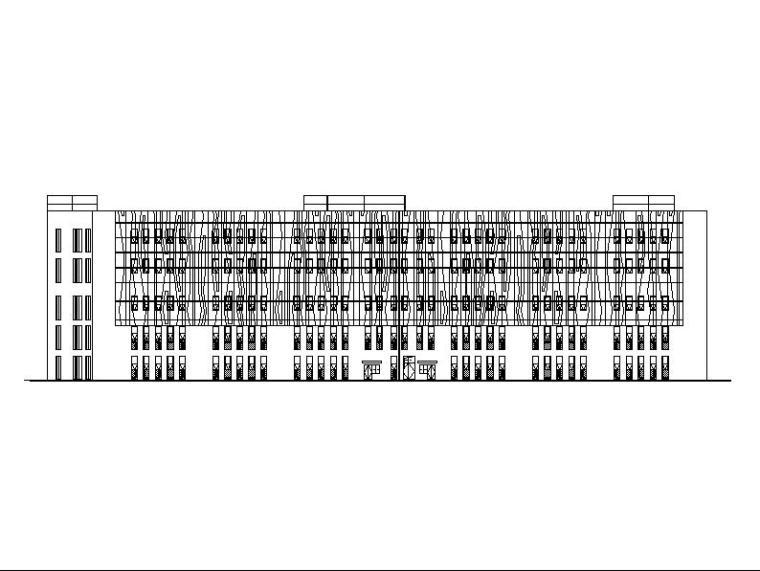 [江苏]四层玻璃幕墙丁类生产性厂房建筑施工图(含电气图纸)
