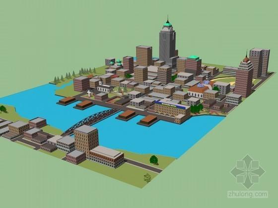城市建筑SketchUp模型下载