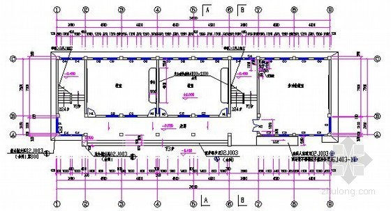 [安徽]教学楼建筑及安装工程量清单计价实例(附图纸及软件文件)-一层平面图