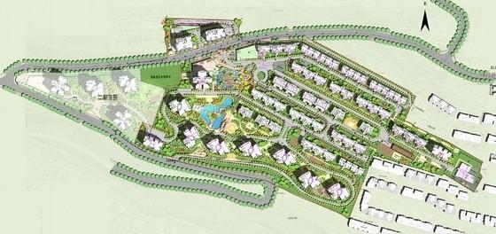 古典风格住宅小区规划设计方案总平面图