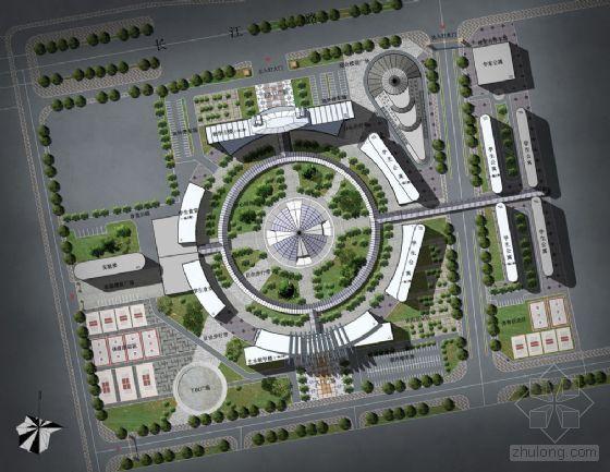 东北大学校园规划概念设计及成品图