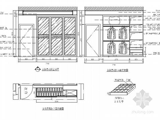 [沈阳]度假生活区古典简欧五居室装修图(含效果)女孩房立面图