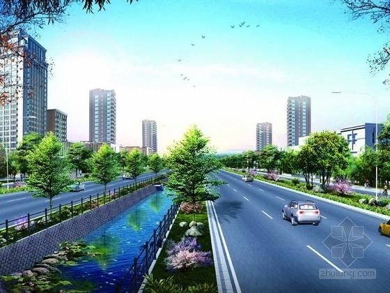 U型景观泳池结构施工图资料下载-[四川]城市主干路景观大道全套施工图设计317张(道排 交通 电照 绿化)