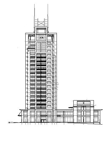 高层写字楼建筑设计图