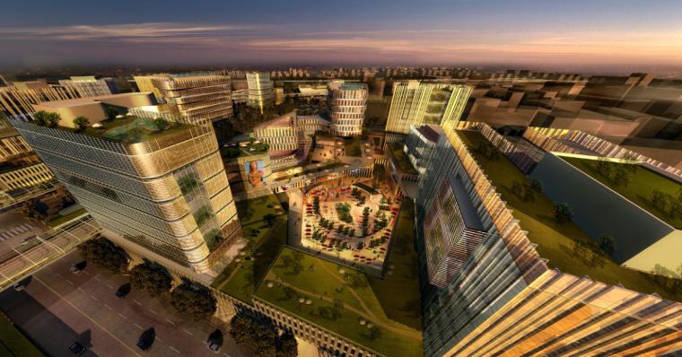 [上海]现代风格低碳城市综合体建筑设计方案文本_4