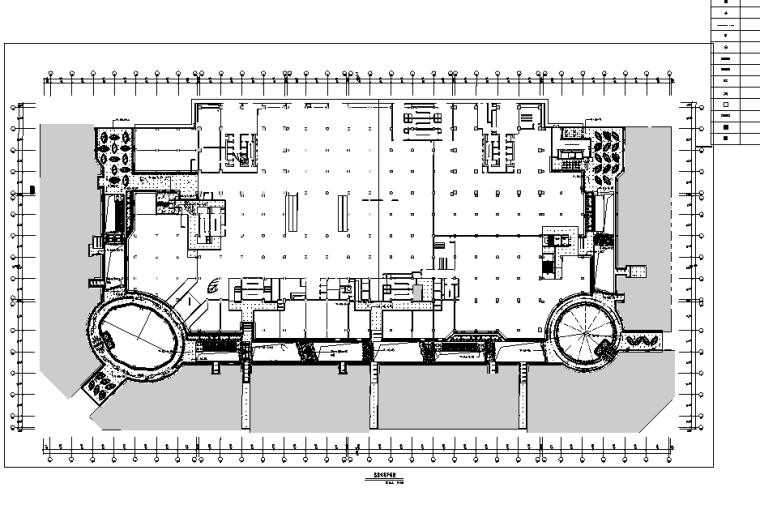 万达广场购物中心室内设计施工图(附效果图)-天花平面图