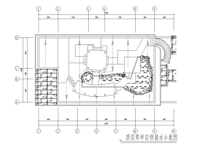 江边别墅屋顶花园景观工程施工图全套(推荐下载)