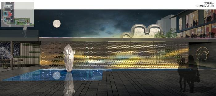 [湖南]尊贵府院商住两用高端豪宅居住区景观规划设计方案