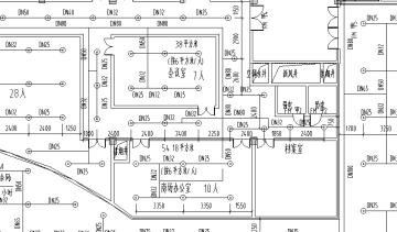 韦德娱乐1946_某市场消防水平面图