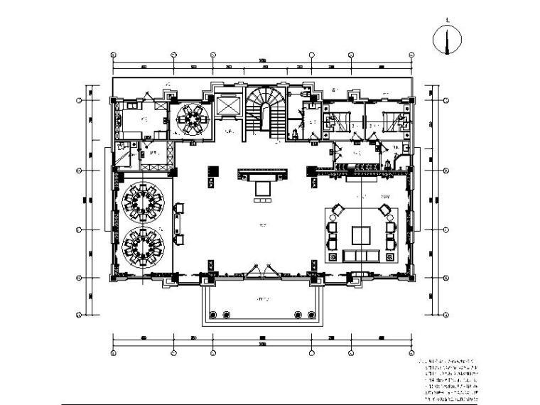 新中式奢华别墅装修设计施工图(含效果图)