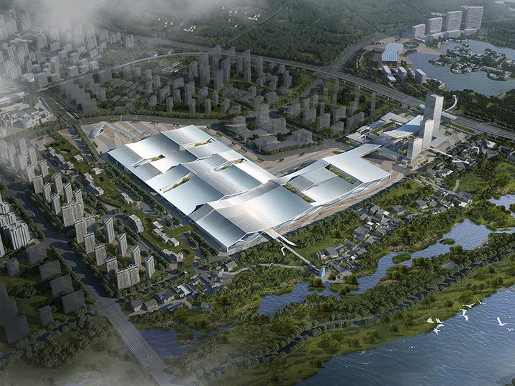 全国7大会展中心设计合集(实景图+效果图)-17-西安丝路国际会展中心效果图