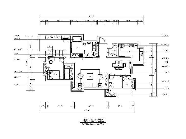 [山东]波普风格复式楼设计CAD施工图(含效果图)