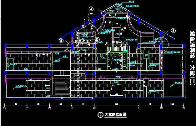 高层新中式风格鲤鱼洲宾馆建筑施工图