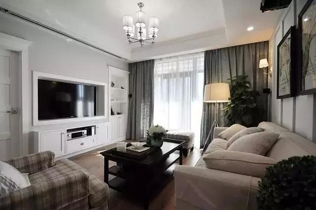 时尚客厅装修,现代简约风格客厅电视机柜效果图