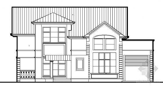 某A型小别墅建筑方案图