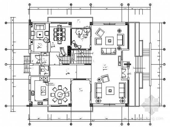 [东莞]三层欧式豪华别墅施工图(含材料)