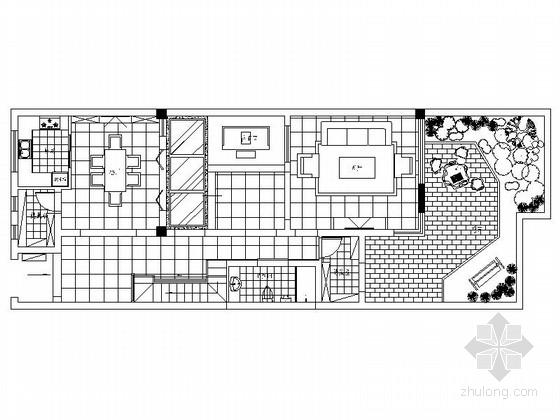 [苏州]魅力社区低调新中式联排别墅装修施工图(含实景)
