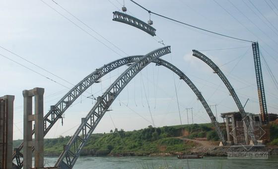 [PPT]150m钢筋混凝土上承式箱型拱桥上部结构施工技术(86页 横移塔架)