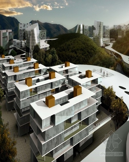 [重庆]现代风格山地大学校园规划设计方案文本