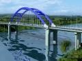 单孔56米跨径下承式系杆拱桥施工图