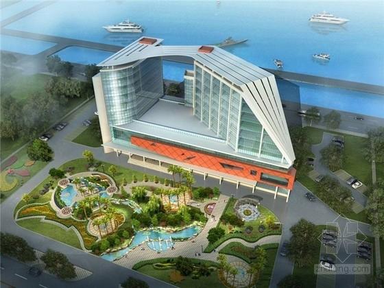 [天津]现代风格帆船状港务大楼建筑设计方案文本