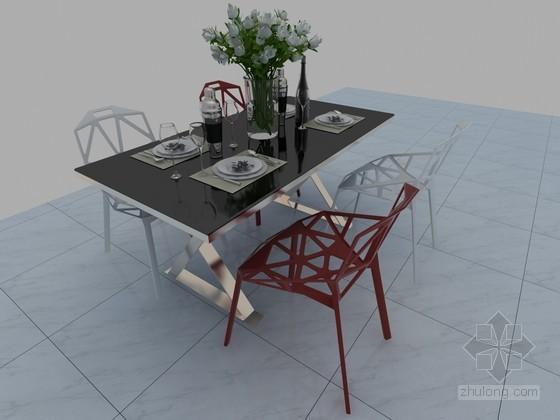 时尚餐桌3D模型下载