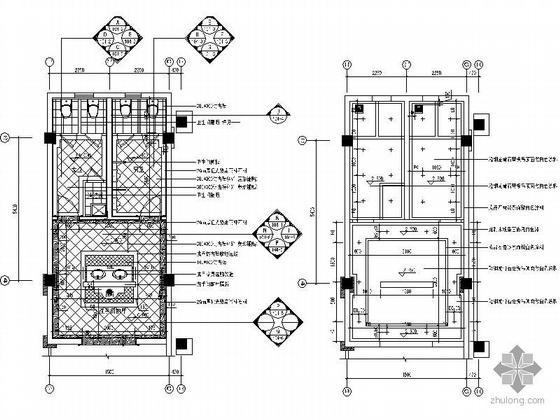 新古典售楼部卫生间装修图