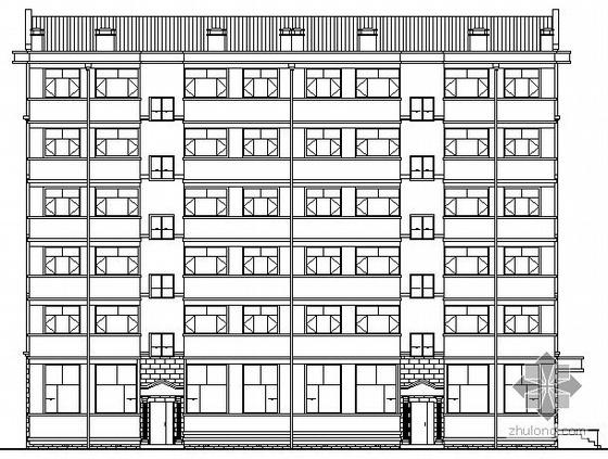 某县抗旱服务站六层商宅楼建筑施工图