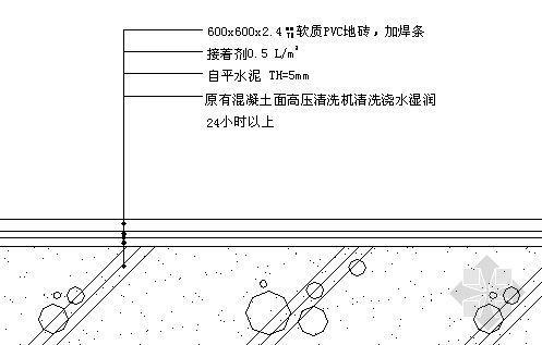 PVC塑胶地砖地坪大样图(一).