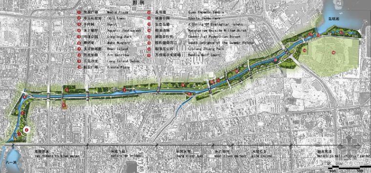 北京某水上景观走廊设计概念图