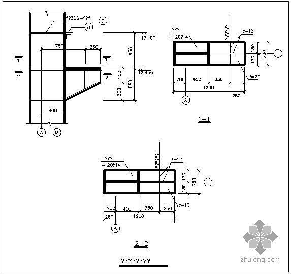 某单牛腿节点构造详图(二)