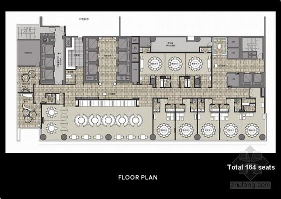 [广州]某酒店中餐厅室内软装方案图