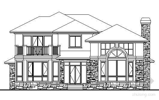 某二层欧式别墅建筑方案图