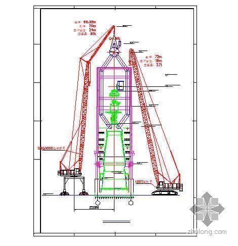 江苏某炼钢厂2500m3高炉系统钢结构安装方案(附吊装示意图)