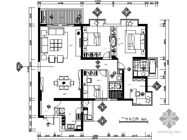 150平米现代三居装修图(含实景)