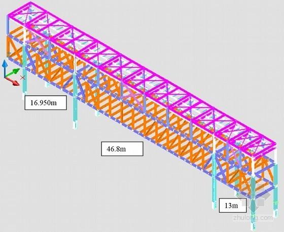 [北京]工业厂房钢天桥安装施工方案(最大跨度46.8m)