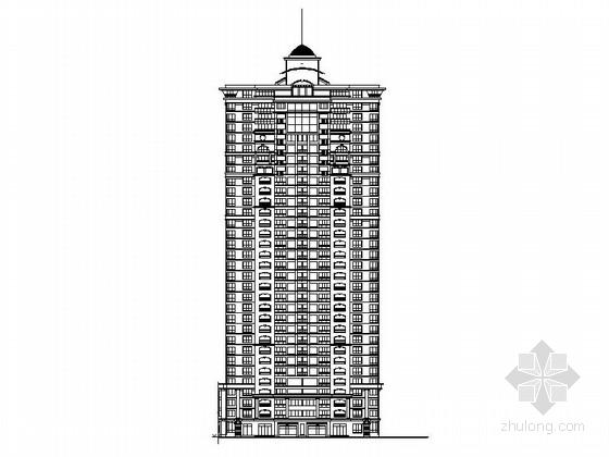 [中山]某32层欧式风格商住楼建筑施工图(106.4米)