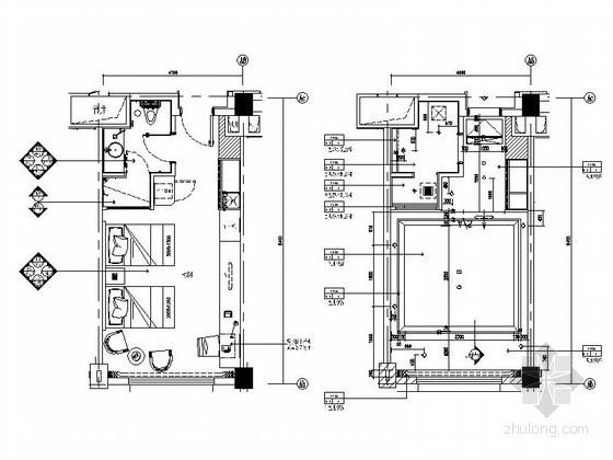[安徽]时尚酒店客房标准间室内装修图(含效果)