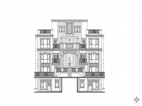 [深圳]某五层双拼欧式花园洋房建筑施工图