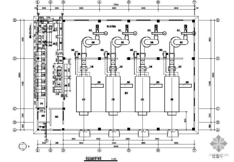 某小区供暖锅炉房工艺流程图
